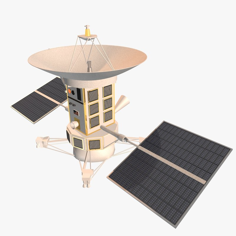 magellan spacecraft 3d model