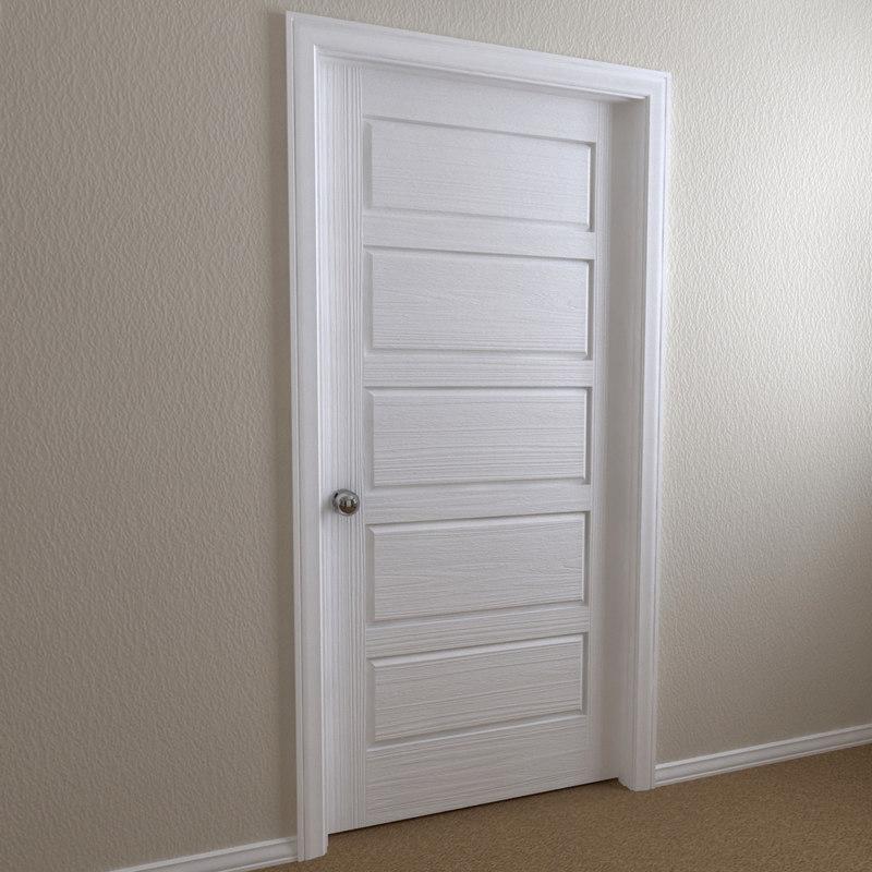 Interior Door 5 Panel C4d