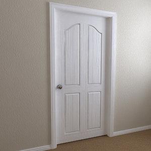 interior door - 4-panel 3ds