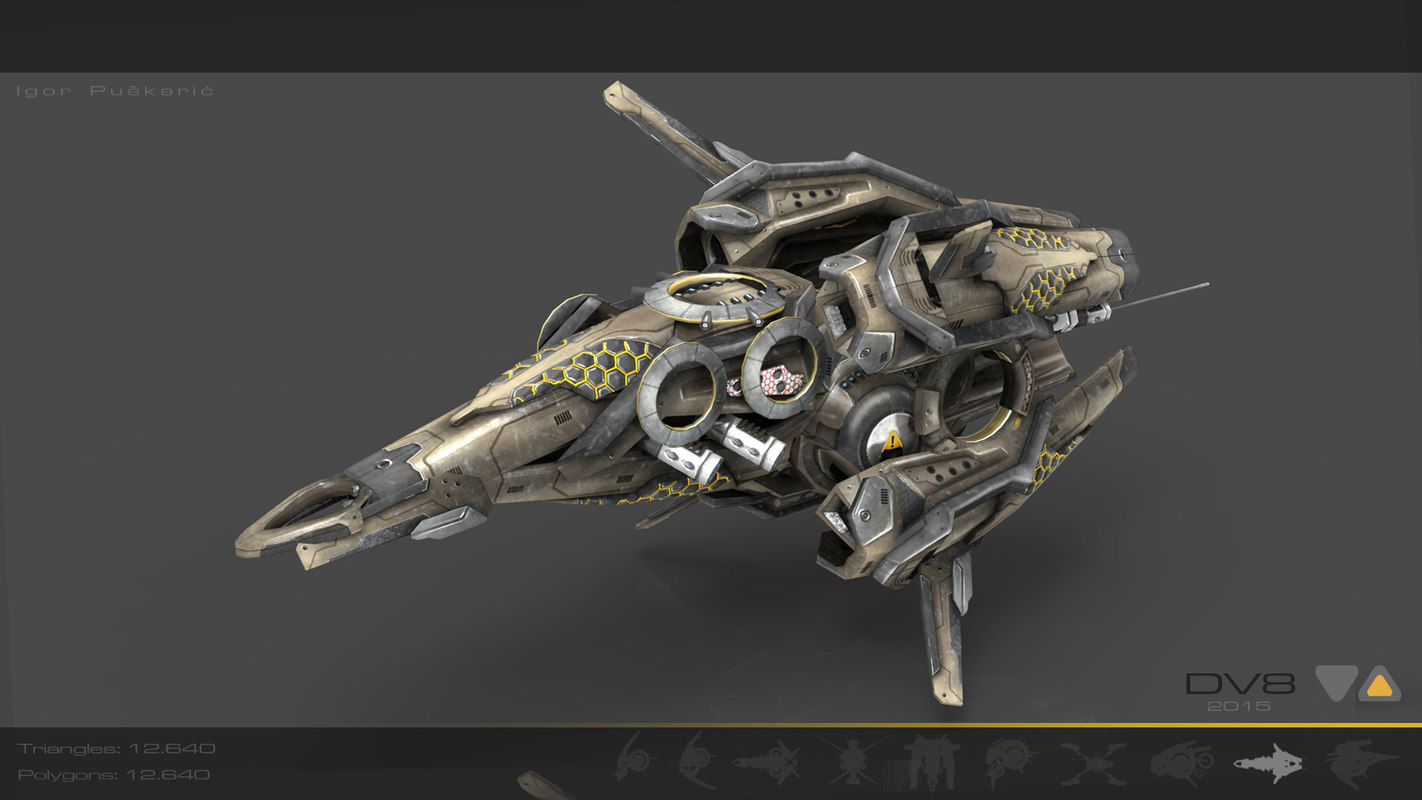 space drone 3d model