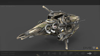 space drone 3d model