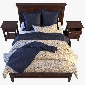3d bedroom furniture hudson bed