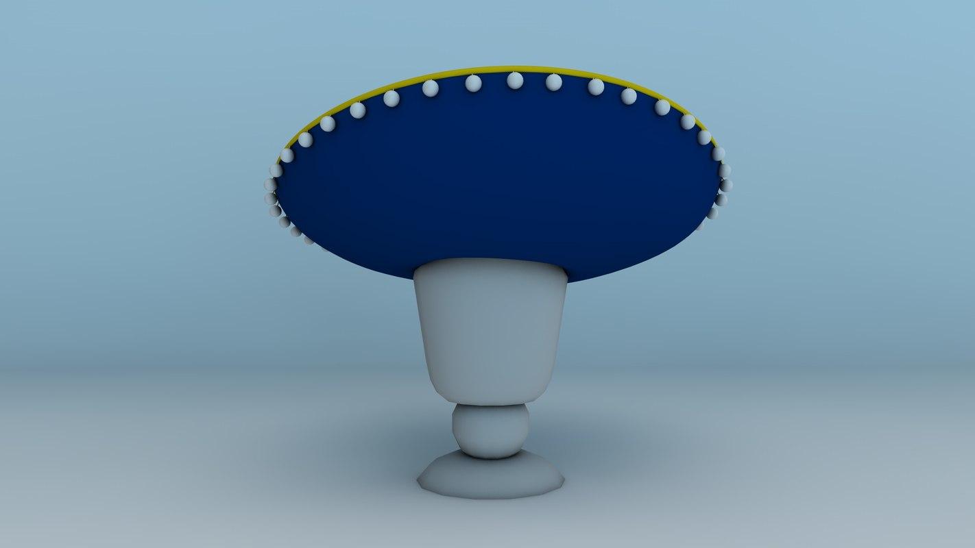 3d c4d hat sombrero