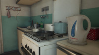 3d model post sovite kitchen