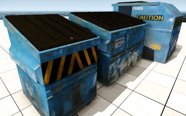 3d model dumpsters