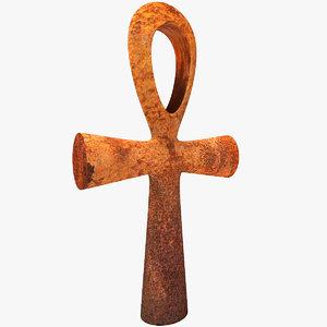 3d rusty cross model