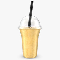 realistic fruit shake banana 3d 3ds
