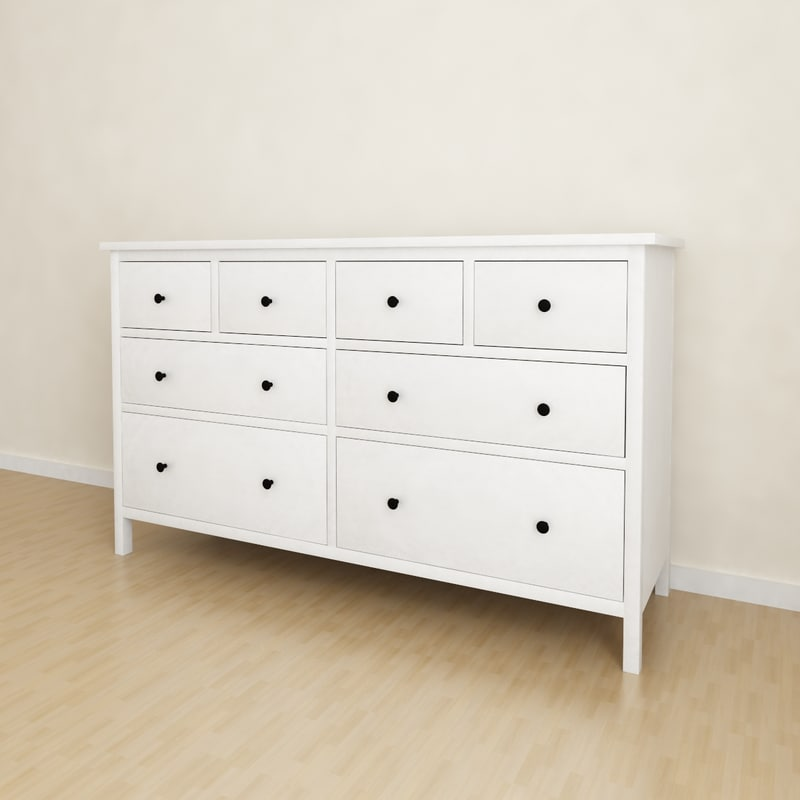 3d model ikea hemnes