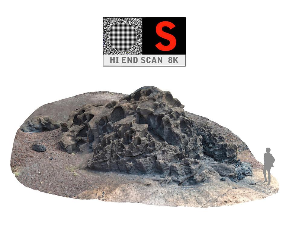 el golfo volcanic beach 3d obj