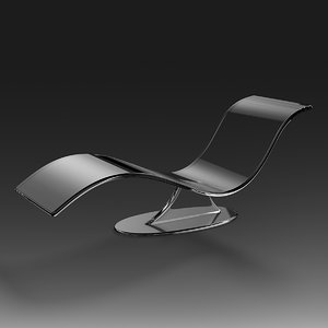 3d model acrylic chaise-lounge