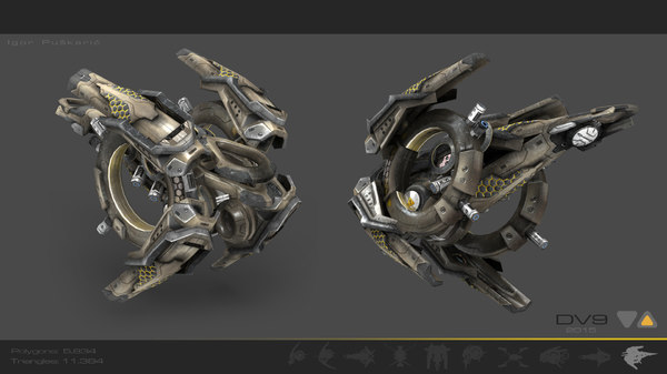 military drone 3d model