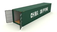 shipping container 3d fbx