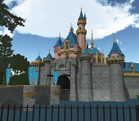 Disney Castle with park