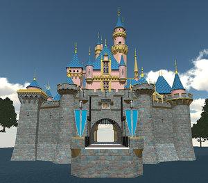 3d disney castle -