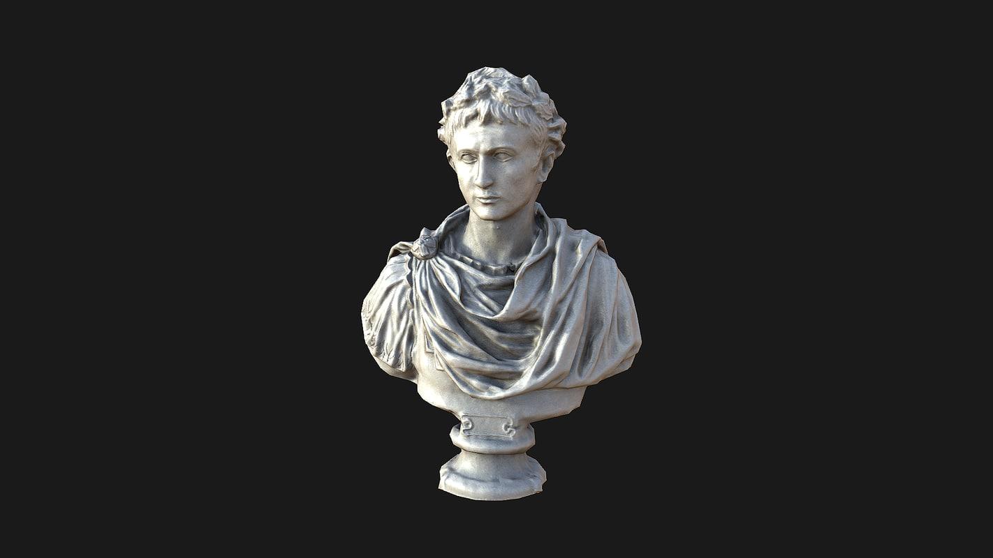 3d octave auguste bust