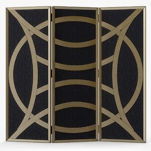 3d model clara folding screen