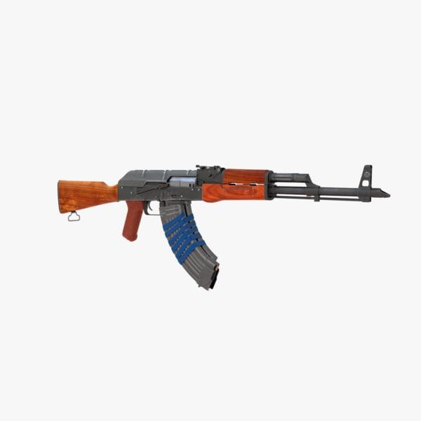 assault rifle ak 3d model