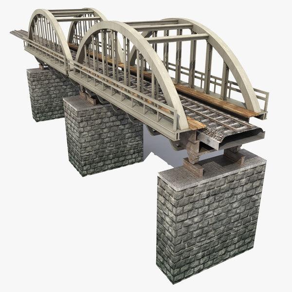 3d modeled railway bridge model
