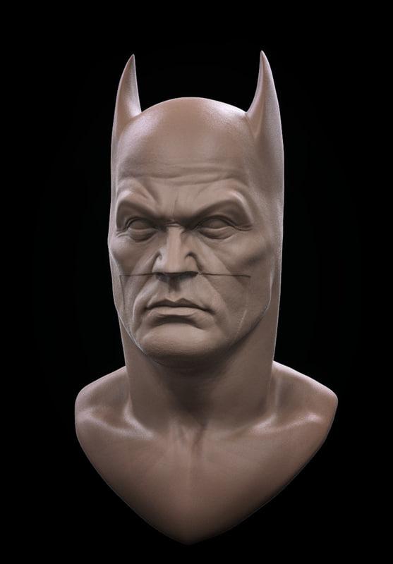 3d model of batman bust