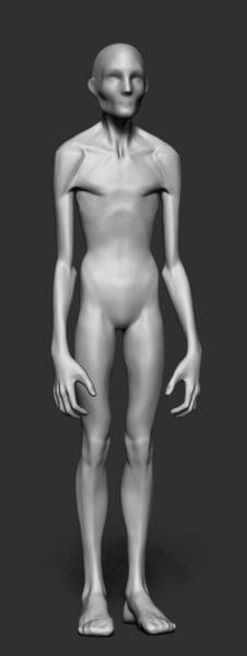 3d model skinny body