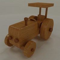max wooden tractor toy