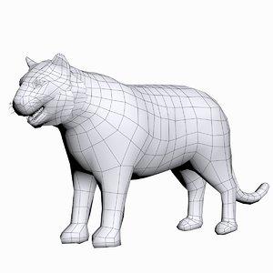 3d tiger model