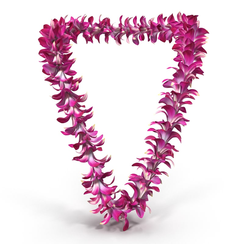 hawaiian lei 3d model
