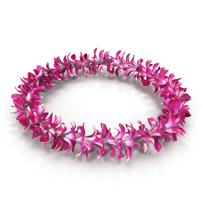 3d hawaiian lei 4 model