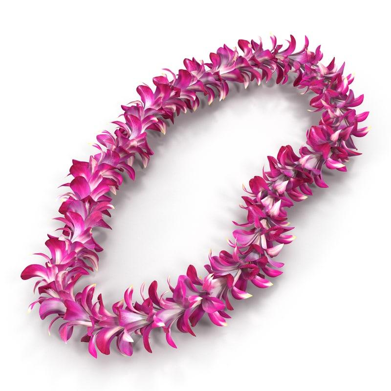 3d hawaiian lei 3