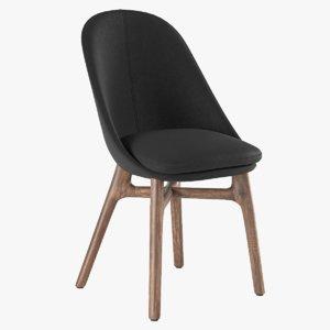 3d model chair solo neri hu