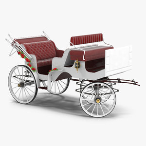 wedding carriage rigged 3d max