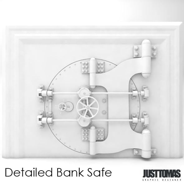 bank safe 3d c4d