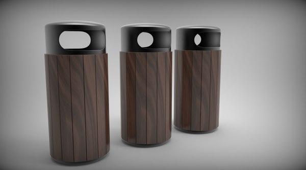 3d 3ds outdoor dustbin
