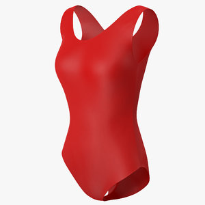 swimsuit red 3d model