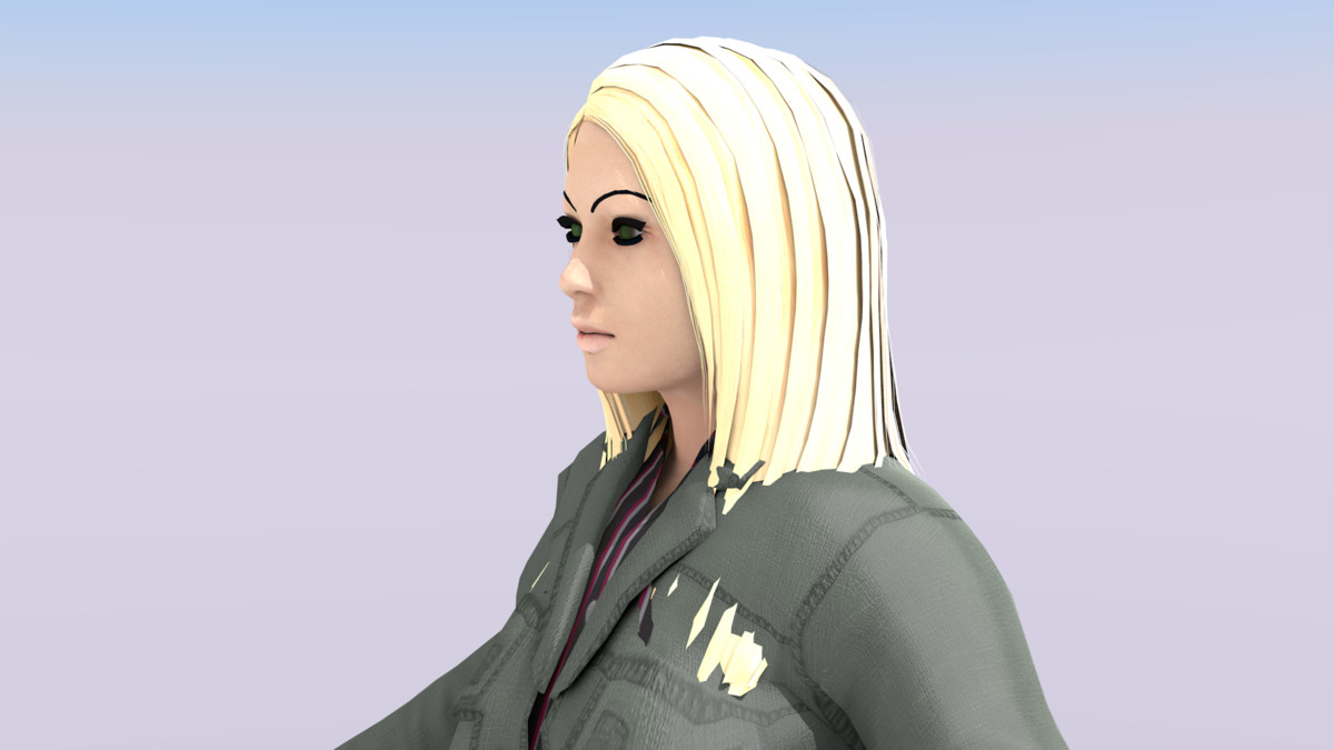 character animation 3d obj