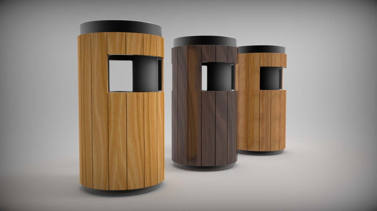3d model dustbin bin
