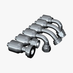 hydraulic fittings 3d model