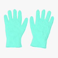 3d model surgical gloves 01