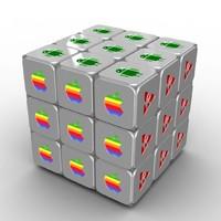 rubik s cube rigged 3d model