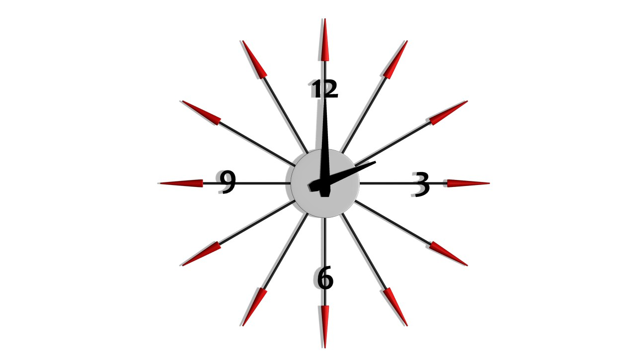 wall clock fbx