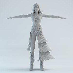girls woman human 3d obj