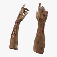 3d zombie hands pose 4