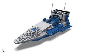 3d fast lego sea jet model