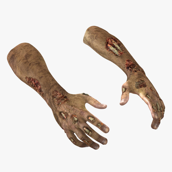 zombie hands pose 2 3ds