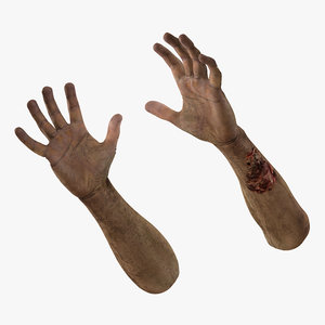 3d model zombie hands pose 3
