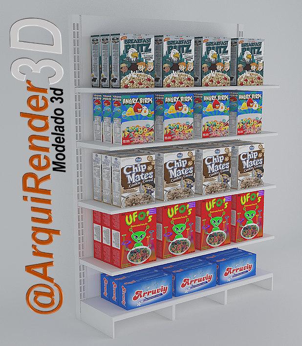display supermarket 3d model