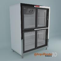 3d 3ds refrigerator 4 doors
