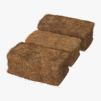 3d squared hay bale 01 model