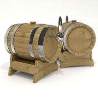 3d beer barrel model