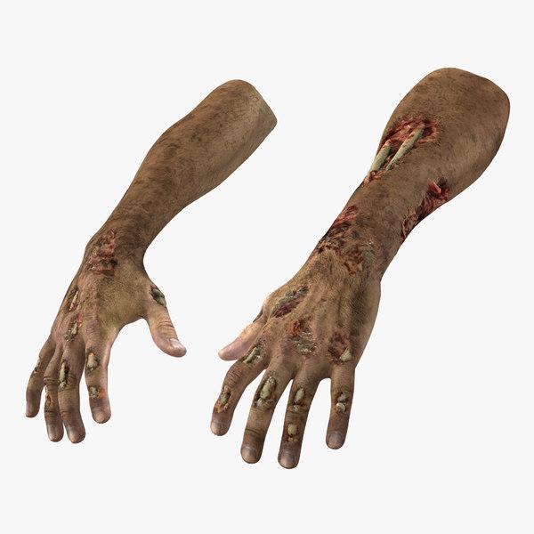 3d zombie hands